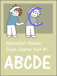 Alphabet Simon Says Set 1 ABCDE
