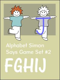 Alphabet Simon Says Capitals Set 2 FGHIJ