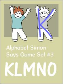 Alphabet Simon Says Set 3 KLMNO