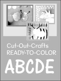 Cut out crafts set 1 READY TO COLOR
