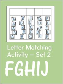Letter Matching Activity for Capitals Book 2 FGHIJ