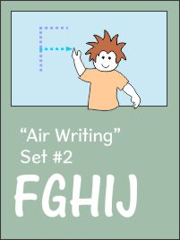 air writing instructions for Capitals book 2