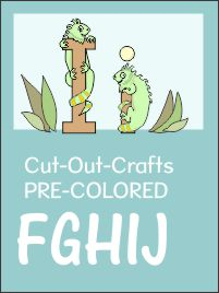 Cut out crafts set 2 FGHIJ pre colored