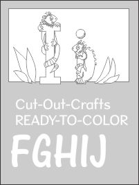 Cut out crafts set 2 FGHIJ ready to color