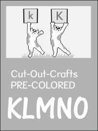 Cut-out crafts set 3 -KLMNO- ready to color